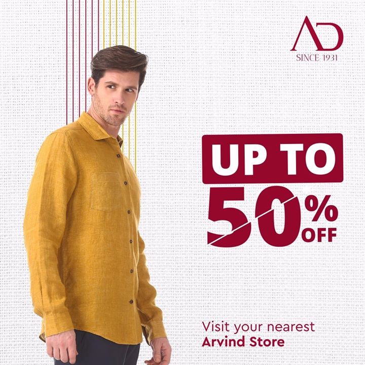Listen up! Yes, you heard it right, the sale has now begun!  Locate the nearest Arvind store from the link in bio and get the coolest trends in your wardrobe at crazy good prices. . . #menstrend #flatlayoftheday #menswearclothing #guystyle #gentlemenfashion #premiumclothing #mensclothes #everydaymadewell #smartcasual #fashioninstagram #dressforsuccess #itsaboutdetail #whowhatwearing #thearvindstore #classicmenswear #mensfashion #malestyle #authentic #arvind #menswear #EndOfSeasonSale #SaleOn #upto50percentoff #discounts #flashsale #dealon #saleanddiscounts #saleatarvind #comingsoon #waitforit