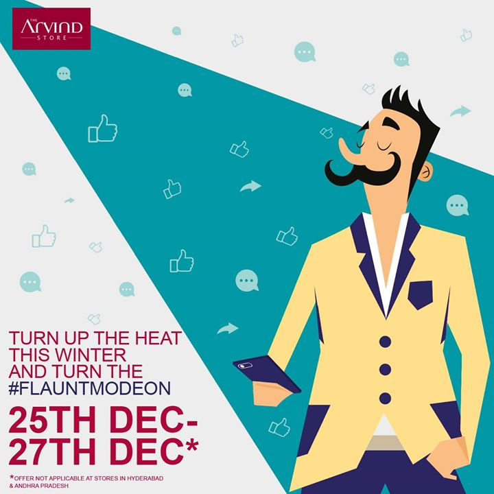 And the most awaited #EOSS starts today at The Arvind Store*. Get FLAT 40% OFF on international brands and up to 40% off on premium fabrics and Flat 20% OFF on ADL! Rush into your nearest The Arvind Store with your New Year's shopping list & kickstart the celebration season!  * Offer not applicable at stores in Hyderabad and Andhra Pradesh
