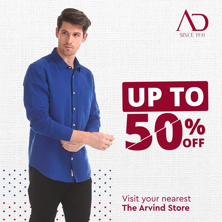 Gentlemen! It's time to renew your wardrobe! From formals to casuals, our End of Season Sale has it all.  Find your nearest The Arvind Store: http://bit.ly/2EUL29D . . #menstrend #flatlayoftheday #menswearclothing #guystyle #gentlemenfashion #premiumclothing #mensclothes #everydaymadewell #smartcasual #fashioninstagram #dressforsuccess #itsaboutdetail #whowhatwearing #thearvindstore #classicmenswear #mensfashion #malestyle #authentic #arvind #menswear #EndOfSeasonSale #SaleOn #upto50percentoff #discounts #flashsale #dealon #saleanddiscounts #saleatarvind #comingsoon #waitforit