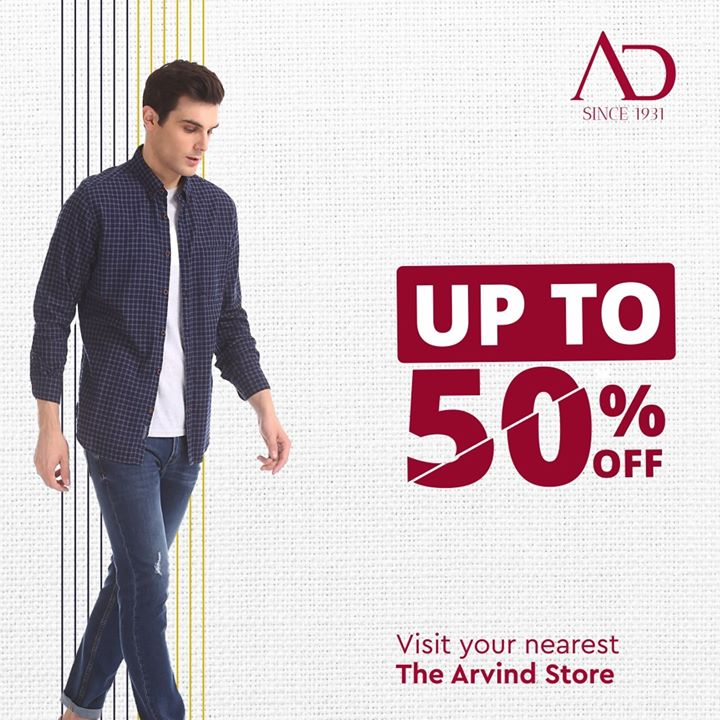 With a wide range of apparels at discounts, being trendy is now pocket-friendly!  Visit your nearest The Arvind Store and avail crazy discounts.  Find your nearest The Arvind Store: http://bit.ly/2EUL29D  . . #menstrend #flatlayoftheday #menswearclothing #guystyle #gentlemenfashion #premiumclothing #mensclothes #everydaymadewell #smartcasual #fashioninstagram #dressforsuccess #itsaboutdetail #whowhatwearing #thearvindstore #classicmenswear #mensfashion #malestyle #authentic #arvind #menswear #EndOfSeasonSale #SaleOn #upto50percentoff #discounts #flashsale #dealon #saleanddiscounts #saleatarvind #comingsoon #waitforit