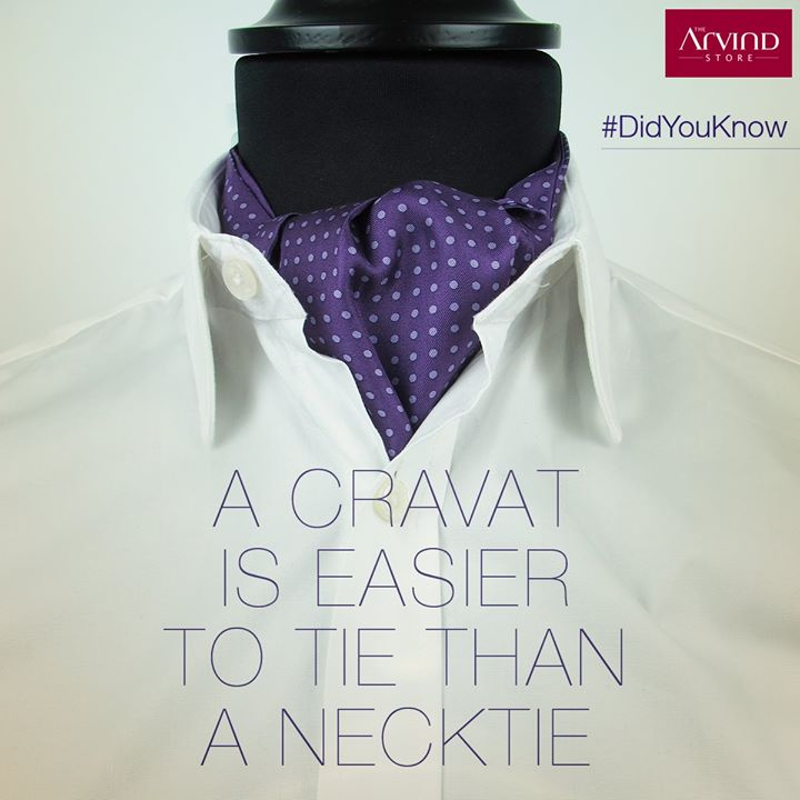 #DidYouKnow Neckties were first worn in Croatia, that's why they were called cravats  (Cro-vats) – Who would have guessed?