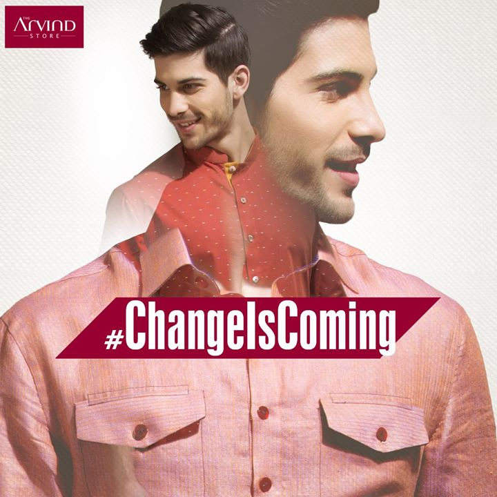 Shopping frenzy continues for as long as you can imagine. A new style, a new look, a new season and a new reason to drop by the Arvind Store #ChangeIsComing