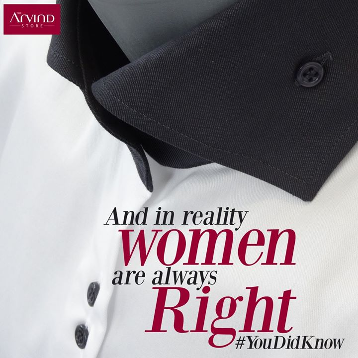 #DidYouKnow Shirt buttons are on the right for men, and left for women.