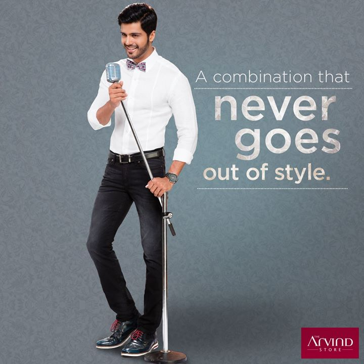 Some colour combinations drift in and out of fashion. Not black and white #ArvindStyleTips