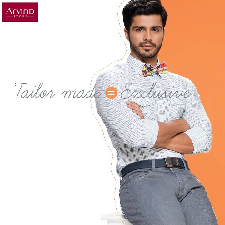 Don't you love the exclusive status in life? Let your clothes enjoy the same #JustForYou
