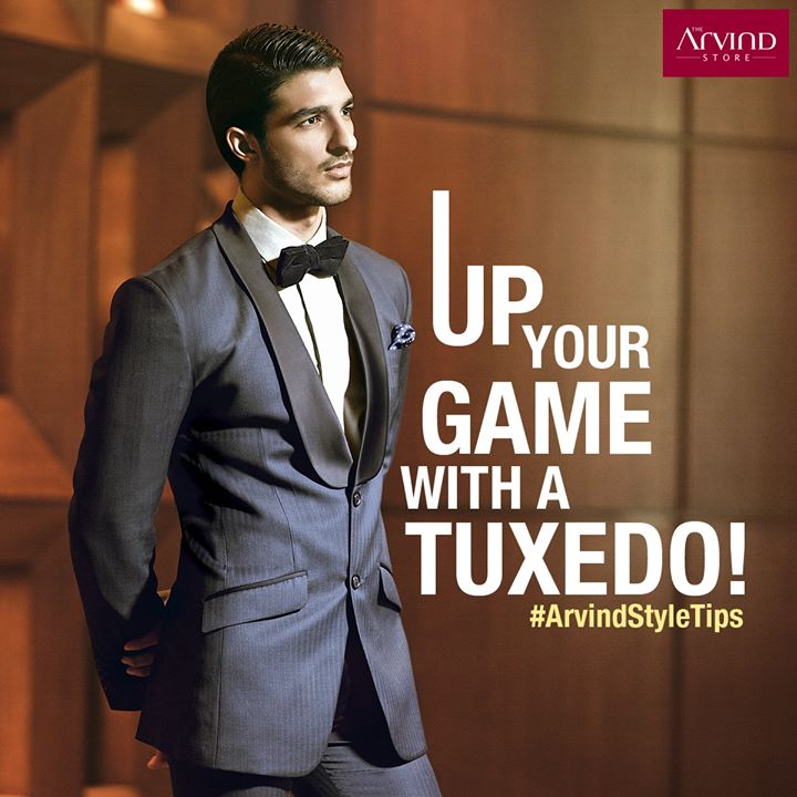 Nothing gets traditional yet trendier than a shawl collar tuxedo #ArvindStyleTips