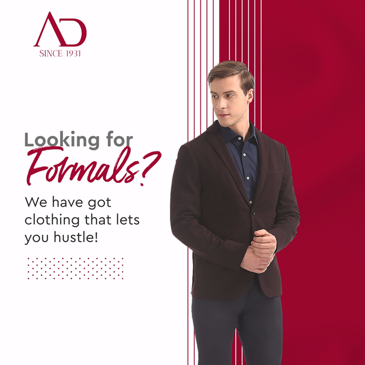 Are you out there, looking for something formal? Well, we have the perfect clothing companion for your comfort as you hustle. Grab a pair of formals at great discounts from The Arvind Store near you.  Find your nearest The Arvind Store: http://bit.ly/2EUL29D . . #menstrend #flatlayoftheday #menswearclothing #guystyle #gentlemenfashion #premiumclothing #mensclothes #everydaymadewell #smartcasual #fashioninstagram #dressforsuccess #itsaboutdetail #whowhatwearing #thearvindstore #classicmenswear #mensfashion #malestyle #authentic #arvind #menswear #EndOfSeasonSale #SaleOn #upto50percentoff #discounts #flashsale #dealon #saleanddiscounts #saleatarvind