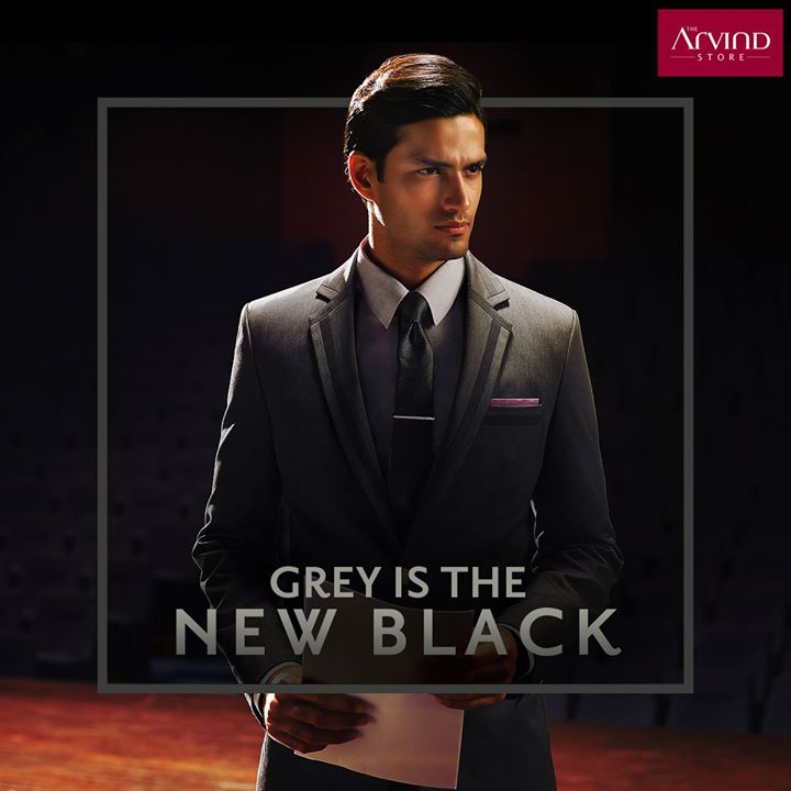 Heading for a year end presentation? Let your grey suit make a statement for you #ArvindStyleTips