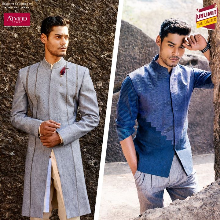 Is understated elegance your thing? Then pick a classy Sherwani or a Jacquard Bandi jacket from our exclusive collection at http://bit.ly/1NkmrvQ