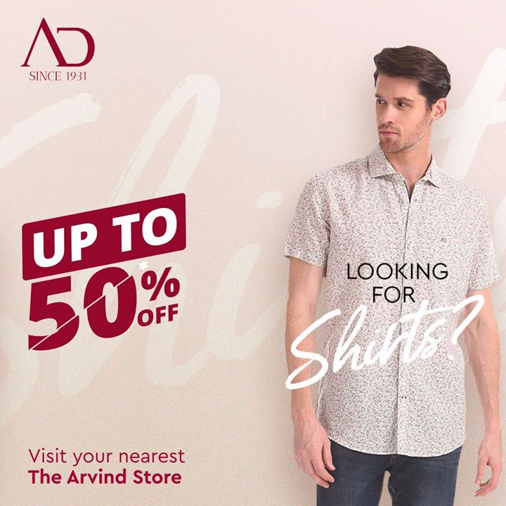Shirts that are made from the finest fabrics are available on the best discounts ever! When are you visiting nearest The Arvind Store to avail these discounts? . . #menstrend #flatlayoftheday #menswearclothing #guystyle #gentlemenfashion #premiumclothing #mensclothes #everydaymadewell #smartcasual #fashioninstagram #dressforsuccess #itsaboutdetail #whowhatwearing #thearvindstore #classicmenswear #mensfashion #malestyle #authentic #arvind #menswear #EndOfSeasonSale #SaleOn #upto50percentoff #discounts #flashsale #dealon #saleanddiscounts #saleatarvind