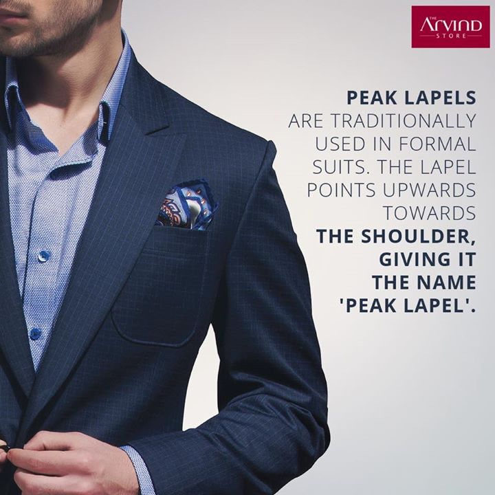 If you're attending a wedding or a black tie event, then make a statement by wearing a Peak Lapel suit. #FashionTip This look especially works if you want to look taller or slimmer. #FashionGyaan #PeakLapel
