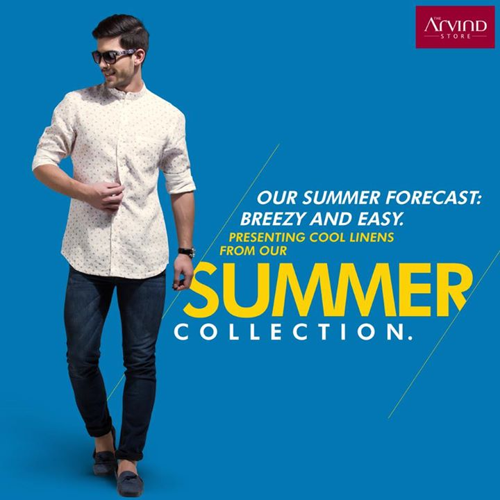 Visit The Arvind Store and discover a collection featuring Linen that looks and feels cool. Whether it's a formal occasion or a fun evening out with friends, get the temperatures soaring with a cool linen ensemble. Shop for Rs 2999 and get 30% off on tailoring services. T&C Apply
