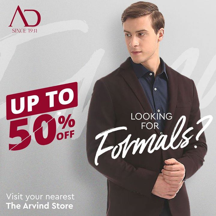 Are you looking for formals? We have got the right ones at amazing discounts, just for you! Visit your nearest The Arvind Store! . . #menstrend #flatlayoftheday #menswearclothing #guystyle #gentlemenfashion #premiumclothing #mensclothes #everydaymadewell #smartcasual #fashioninstagram #dressforsuccess #itsaboutdetail #whowhatwearing #thearvindstore #classicmenswear #mensfashion #malestyle #authentic #arvind #menswear #EndOfSeasonSale #SaleOn #upto50percentoff #discounts #flashsale #dealon #saleanddiscounts #saleatarvind