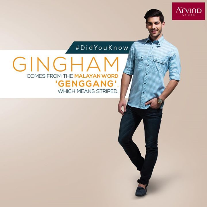 #Gingham is a five hundred year old fabric, which originated in Southeast Asia. #FashionGyaan