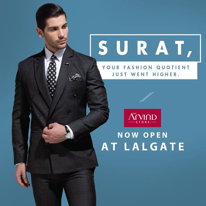 Gentlemen, get ready for another wave of fashion at Surat. Come, rediscover your favourite fashion destination at yet another location in the city. Inaugural offer: Shop for Rs 3999 & get a double wallet worth Rs 999 absolutely free. T&C Apply.