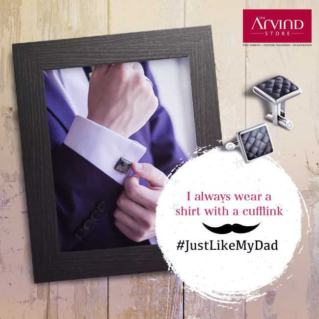 We all have a bit of our dad in the way we dress.  Share a photo with your father and tell us about that one style element you inherited from him, followed by #JustLikeMyDad.  T&C: http://bit.ly/JustLikeMyDadContest