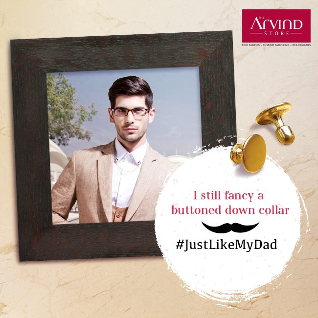 Somewhere in our fashion ensemble, there is a feature that belongs to our dad.  Share your dad's style with a photo of you and him, followed by the hashtag #JustLikeMyDad  Contest T&C: http://bit.ly/JustLikeMyDadContest