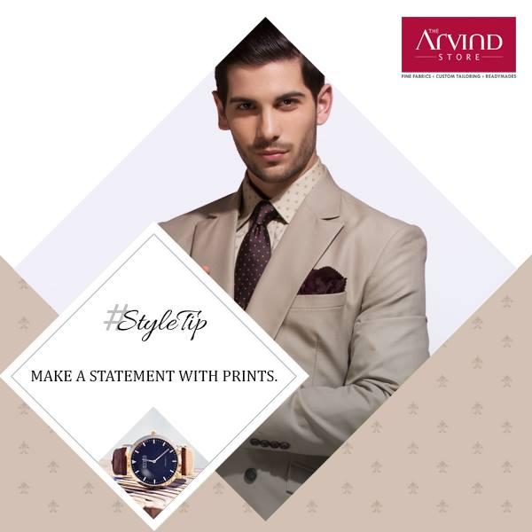 Hone your casual look with stylish prints and redefine the contemporary. #StyleTip