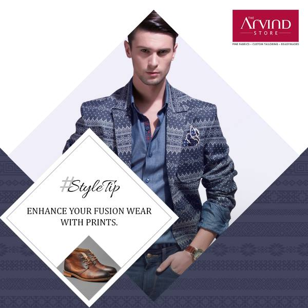 Make prints a part of your fusion wear and see how it compliments your style perfectly. #StyleTip
