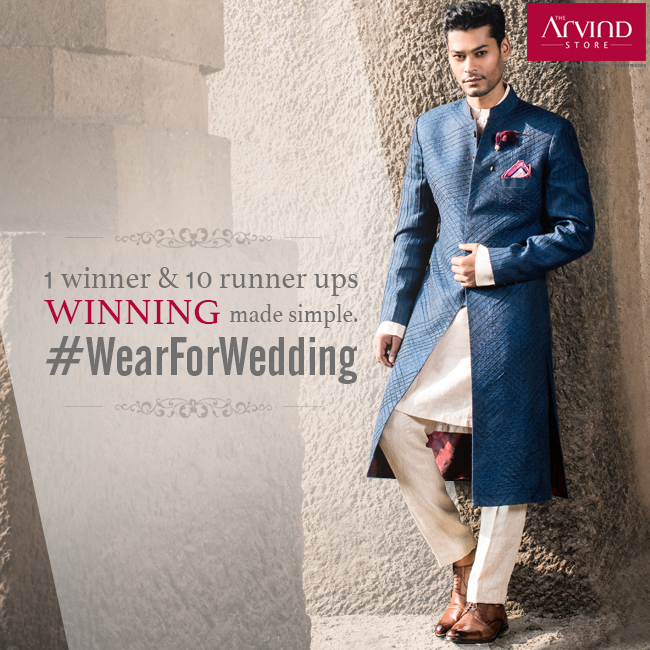 Participate in the #WearForWedding contest, where there's 1 winner, 5 runner ups & 5 second runner ups. So many chances to win, hurry now!  Visit: http://bit.ly/WearForWedding