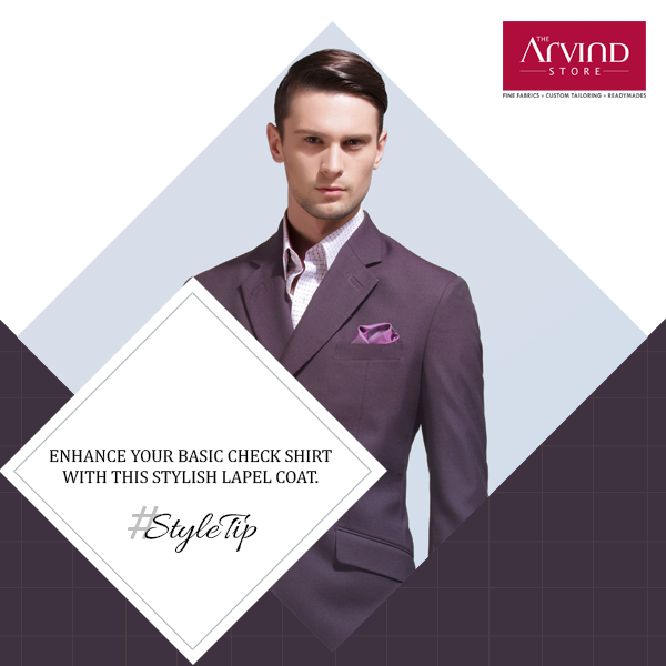 Need to attend a party right after work? Well, add this notched Lapel Coat to your attire and make heads turn. #StyleTip