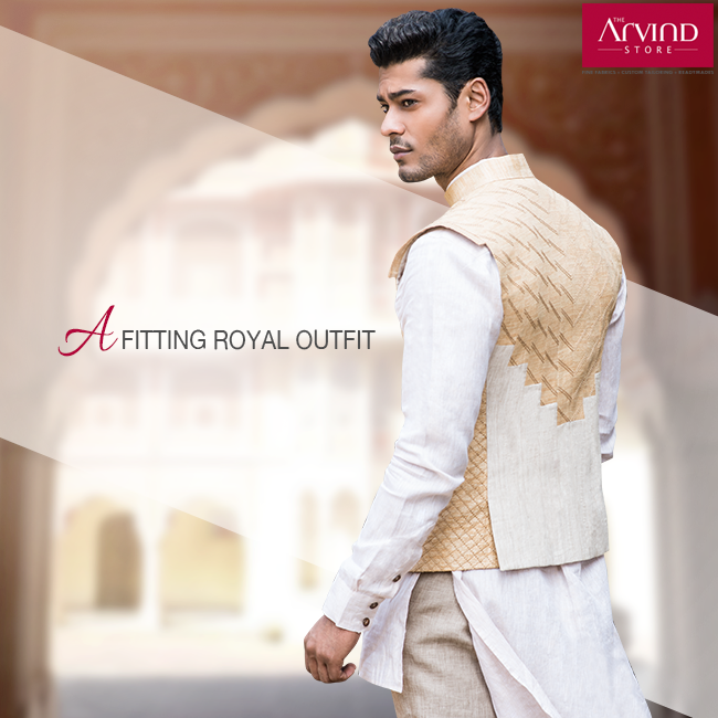This white traditional coat rightly symbolizes a blend of heritage and trend. Charm the crowd at any occasion with this regal attire.   To check out more Wedding Collection, locate The Arvind Store closest to you. Visit to know more: http://bit.ly/TAS_Locator  #StyleWedsTradition