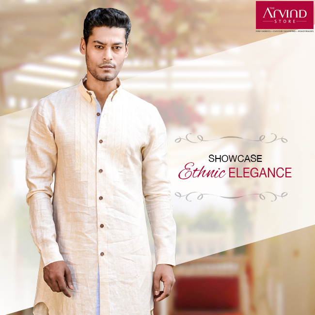 This white outfit deserves a special place in every wardrobe. This attire from our wedding collection rightly defines the ethnic style. To check out more wedding styles, locate The Arvind Store near you.   http://bit.ly/TAS_Locator