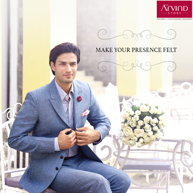 A suit is an essential element in a man's wardrobe. Make a lasting impression for any occasion with a suave suit.  Check out suits from our Wedding collection at The Arvind Store near you! http://bit.ly/TAS_Locator