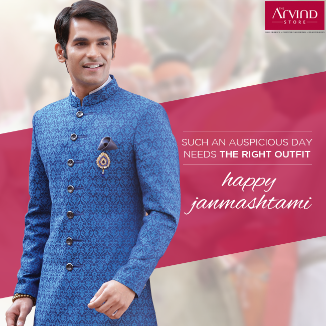 On such a special day, everything needs the right traditional touch, including your fashion. #HappyJanmashtami