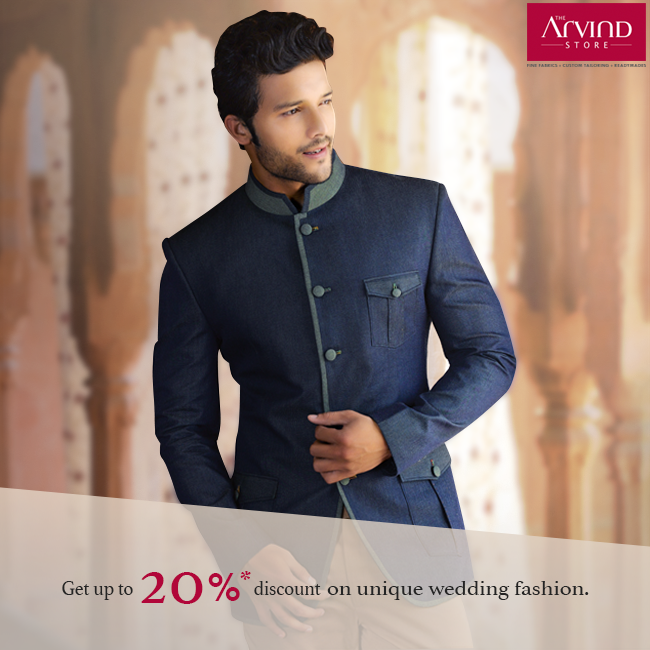 Here's a great deal on the best in fashion! The Arvind Store offers up to 20% discount on its wedding styles. Hurry! Get your coupons here: http://bit.ly/DownloadCoupon