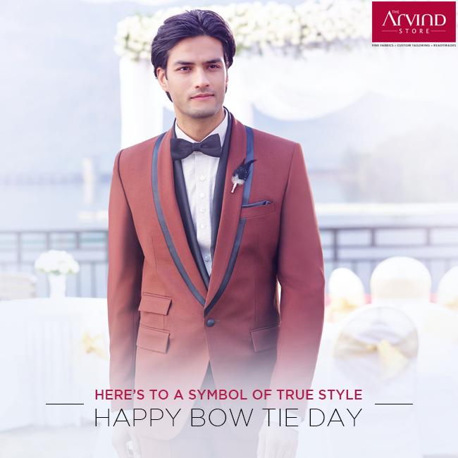 Bow ties have a long history of giving a nice finishing touch to menswear. Let's celebrate their prominence in our fashion by simply putting one on. #BowTieDay