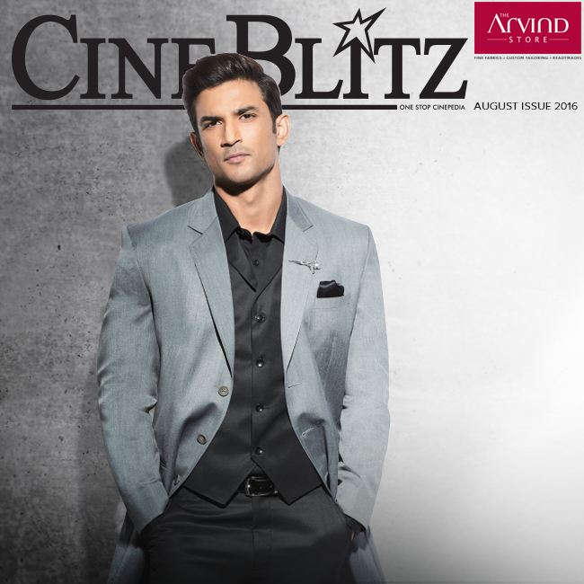 Check out how Sushant Singh Rajput shines on the cover of Cine Blitz in suave and elegant outfits. This fine actor builds a style aspiration for many with fashion from The Arvind Store.  Click Here: http://bit.ly/TAS_Locator