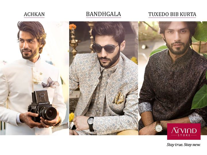 This Festive season, what is that one outfit you would love to style yourself in? Let us know in the comment section below. 1.Achkan  2. Bandhgala  3.Tuxedo Bib Kurta