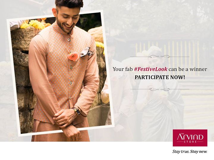 Decking up for the occasion, especially a festive one, is surely exciting!  Share with us a picture of your festive look in the comment section, and you could stand a chance to win amazing gift vouchers exclusively from #TheArvindStore. #StayTrueStayNew   For T&C click here: http://bit.ly/FestiveLookContest