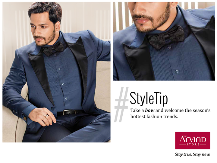 For flaunting the bold-hued suit, you need the right accessories; don this flamboyant bow tie to be the magnifico of every event.    #StayTrueStayNew  Visit:  http://bit.ly/TAS_Locator
