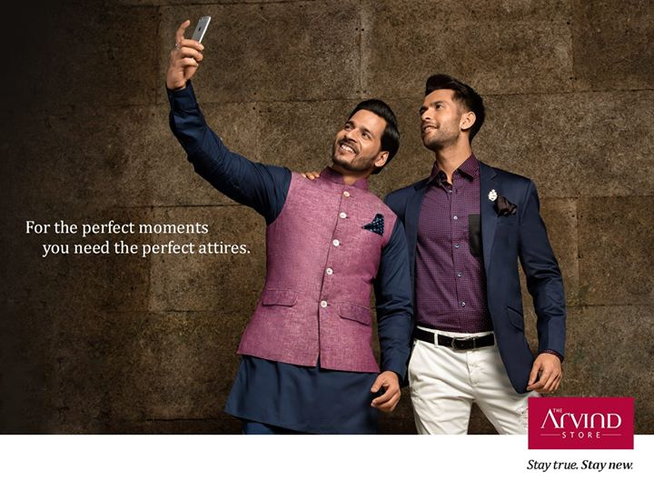 Complement your Kurta with a coordinated churidar and your blazer with a printed shirt to make an impression, worth remembering. #StayTrueStayNew