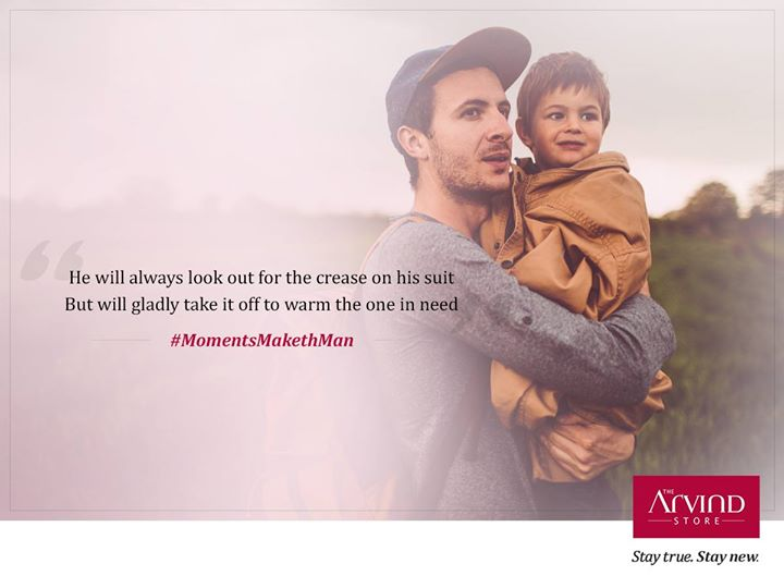 Not a day goes by when he looks anything less than impeccable. Except when he sees someone who needs to be tend to.  Let's celebrate a day for those men on International Men's Day. #MomentsMakethMan