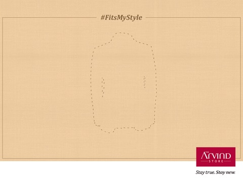 It's time to style yourself right with that perfect fit! Try to make the suit stop at a point where it meets the corresponding outline.Take a screenshot and post in the comment section using the hashtag #FitsMyStyle.  Lucky ones to win gift vouchers from The Arvind Store   #StayTrueStayNew
