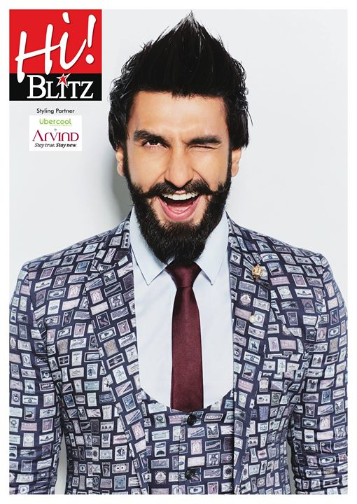 When all eyes are on you, just wink! Here's how Ranveer spreads his eccentric charm donning his quirky look with Uber Cool Fabric range from the house of The Arvind Store #StayTrueStayNew Hi! BLITZ Ranveer Singh