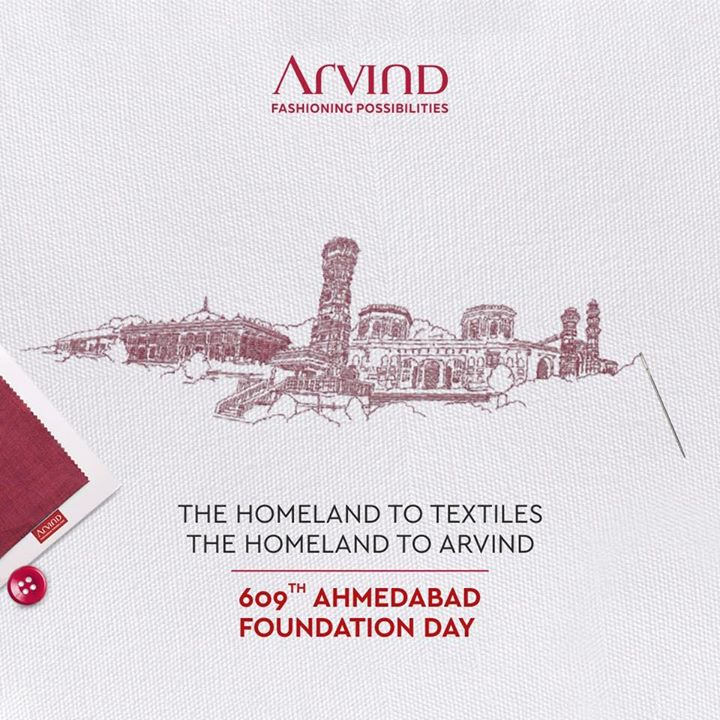 Celebrating 609 years of Ahmedabad, the land of textiles and our home! . .  #gentlemenfashion #premiumclothing #mensclothes #everydaymadewell #smartcasual #fashioninstagram #dressforsuccess #itsaboutdetail #whowhatwearing #thearvindstore #classicmenswear #mensfashion #malestyle #authentic #arvind #menswear #ahmedabadfoundationday #happybirthdayahmedabad