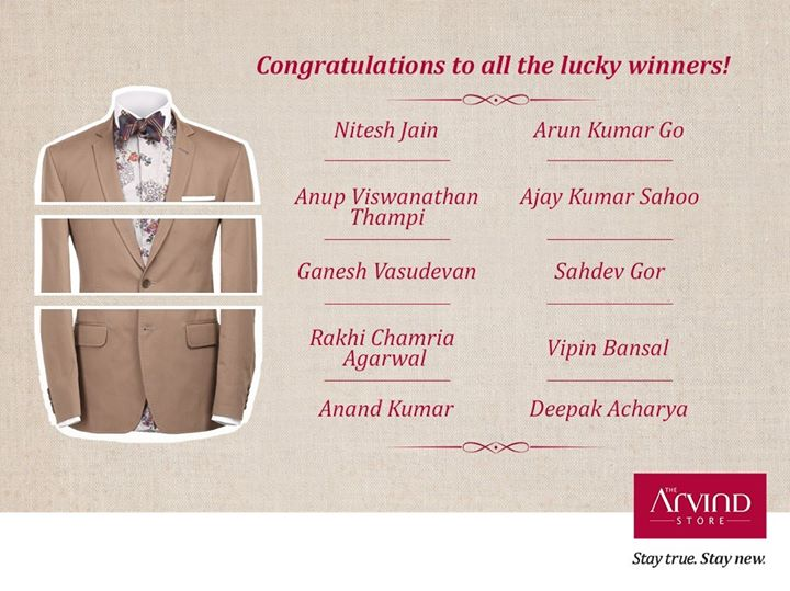 Drum rolls to all those who made it to the list! Find out if you're the lucky one to win .Thank you for making the contest grand. Congratulations to you all!