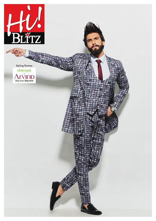 When it comes to making an impression, Ranveer Singh does it effortlessly.On the cover of Hi! BLITZ magazine, he looks stunning in this Ubercool collection from The Arvind Store.  Find your nearest The Arvind Store: http://bit.ly/TAS_Locator