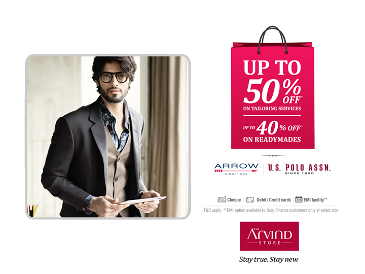 This holiday season, we bring you twice the joy at half the price. Up to 50% OFF on custom tailoring and up to 40% on readymades. Rush in today.  Select outlets in the link below: http://bit.ly/EOSSstorelist