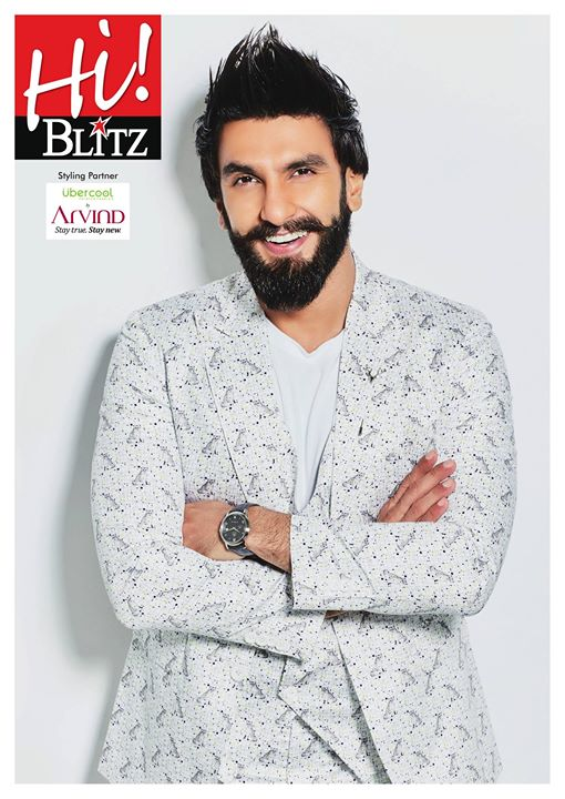 It is always a sight to watch Ranveer Singh in his usual, wacky self. Check him out dressed in the Uber Cool collection from the The Arvind Store on the cover of HiBlitz. Find your nearest The Arvind Store: http://bit.ly/TAS_Locator #StayTrueStayNew #UberCool