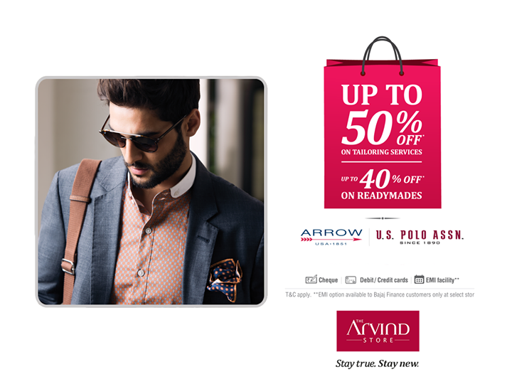 Here's a sale to sweep you off your feet. Get up to 50% off on custom tailoring & up to 40% off on readymade attires. Don't miss out! Select outlets in the link below: http://bit.ly/EOSSstorelist #StayTrueStayNew