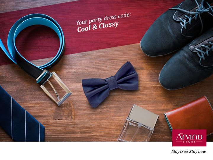 Don't let your class take the backseat amidst the celebrations. Dress elegantly, party in style.  Visit your nearest The Arvind Store:  bit.ly/TAS_Locator #StayTrueStayNew #PartyStaple