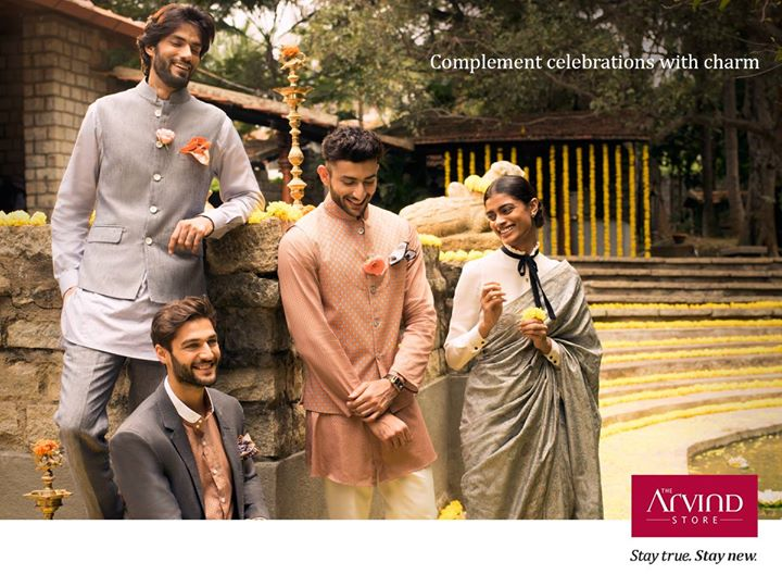 Evoke the true essence of radiance by draping yourself in a plush, elegant attire.  #StayTrueStayNew  Visit you nearest The Arvind Store : bit.ly/TAS_Locator