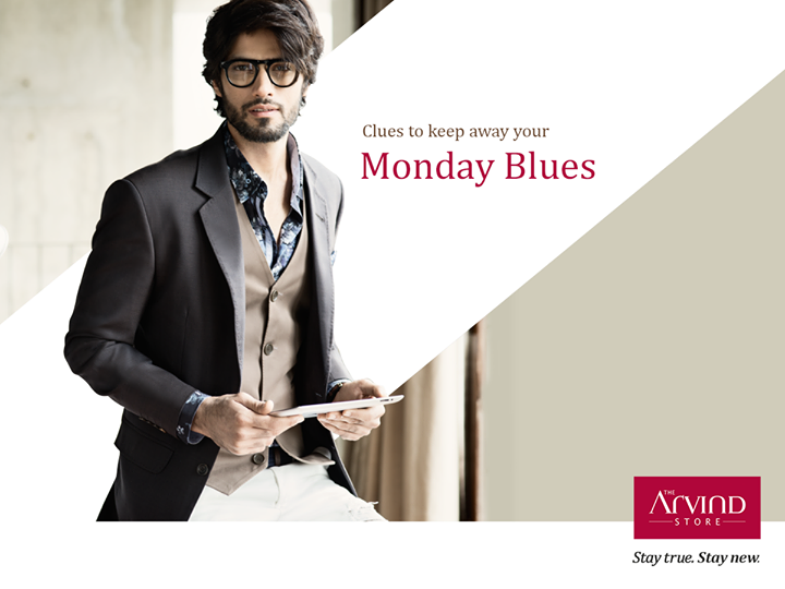 Mondays are mundane! How about suiting up in this beige three piece suit to brighten up the day.  #MondayBlues #StayTrueStayNew  Visit: http://bit.ly/TAS_Locator