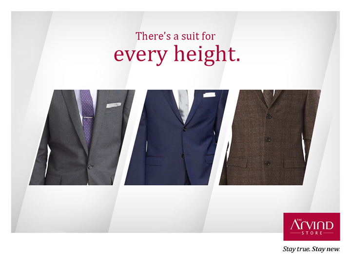 If you're short, go with a one-button suit. If you're average height, pick up a two-button suit. If you're tall, the three-button is your perfect fit. #TheArivndStore #StayTrueStayNew
