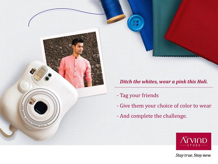 Challenge your friends to wear a color of your choice this #Holi and share a picture with us in the comments below.  It's that simple, what are you waiting for!